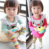 Gilrs Sets Baby Outfits Brown Jumpers Girl's Suits Baby Girls Clothing Sets Long Sleeve Tshirts+Pants Suit