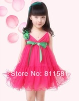 Free shipping wholesale children's clothing for girls Korean bohemian beach dress sling Danny children dress child