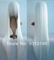 Hot Selling High Qaulity Womens Girls Sexy Synthetic Long Straight Cosplay Costume Wigs Party Hair White Black Free Shipping