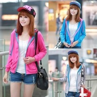 Spring and autumn outerwear 2014 spring all-match casual slim cardigan student women's fleece sweatshirt