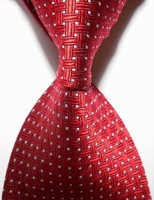Free Shipping New Red Crossed JACQUARD WOVEN Men's Tie Necktie