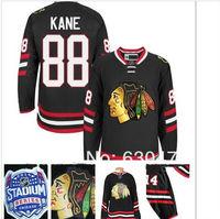 2014 newest stadium series men's chicago blackhawks #88 patrick kane back ice hockey jersey/shirt
