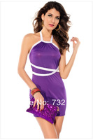 2014 New Fashion Women's Summer Brief Sexy Hang Neck Backless Vintage Casual Dress Z D-0056