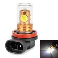 CL20121205-4 H8 9.5W 800lm 4-LED White Light Car Foglight w/ Glass Cover - (DC 12~24V)