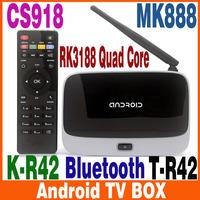 2GB Ram 8GB Rom Quad Core RK3188 Cortex A9 MK888B Bluetooth Full HD Multi Media Player Android TV Box MK888 K-R42 CS918 EKB311