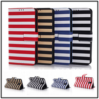 HOT SALE! 20pcs/lot  For Samsung Galaxy S5 i9600 High quality stripe Leather Magnetic Holster Flip Hard Case Cover holster B759