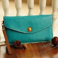 NEW arrival Vintage color block wallet day clutch long wallet design multicolor wallet women's handbag wallet