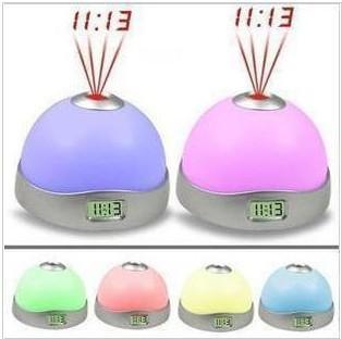50pcs/lot Colour Change Led Clock Dream Sky Hemisphere Projection Clocky Alarm Clock +DHL Free Shipping(China (Mainland))