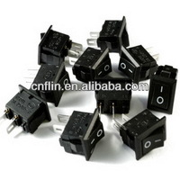 2000pc/lot Mini Small Black ON/OFF Rectangle Rocker Switch 12V Car Dash Boat