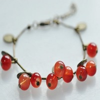 SL030 Hot Sales New 2014 Style Fashion Vintage Cherry Gift Bracelets Bangles Jewelry Free shipping