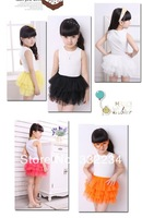 2014 spring wild veil girls tutu skirt cake skirt skirts children dance performances skirt