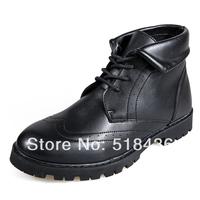 Men's Winter Boots fashion lacing Outdoor Warm Men's Martin Boots Men's Snow Boots Flats comfortable all-match rivet shoes 830