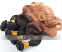 Top quality brazilian virgin hair body wave 3 bundles lot ombre hair extensions queen hair products dhl free shipping
