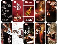 10PCS/lot For bulk new hot selling skin miami heat skin design white hard back cover case for iphone 5C+Free shipping in stock