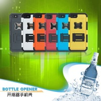 DHL 50PC/LOT Wholesale Cool Beers Bottle Opener hard Case For Apple iPhone 4 4S Stand Phone Cover Case, Free Screenguard