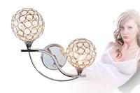 free shipping Modern brief fashion k9 crystal double slider wall lamp art lamp ofhead mirror frha b53