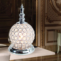 free shipping Dimming brief modern crystal decoration table lamp ofhead frtl t47