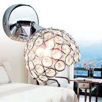 free shipping Brief modern crystal gold wall lamp ofhead mirror stair single circle frha b25