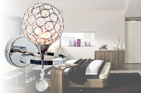 free shipping Brief fashion modern crystal wall lamp double slider art lamp ofhead led pullswitch
