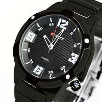 CURREN M1227 Men Clock Brand Full Stainless Steel Men Quartz Analog Watch Sports  Military  Men Watch (3 kinds of color)