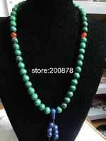 TNL222    Green Malachite Meditation Mala Bracelet Necklace,12mm,Stone Car Hanger Decor,big size for man gift