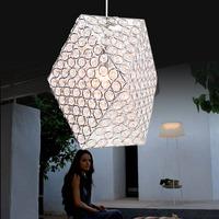 free shipping Crystal pendant light restaurant lamp living room pendant light fashion modern brief led crystal lamp bar