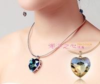 New 2014 Korean jewelry Austrian crystal jewelry minimalist Heart of Ocean Necklace Pendant