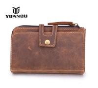 2014 NEW ARRIVAL! High Quality Vintage Crazy Horse Leather Men Day Clutch Bag Genuine Leather Handbags Men Wallet&Purse