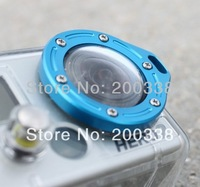 Blue Aluminum Lanyard GoPro Ring Lens ring Mount For Gopro Hero2
