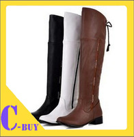 2014 NEW fashion flat knee casual dress sexy women P1316 Hot sell size 34-47 boots