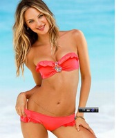 Free shipping 2013 hot sale new Fashion women Sexy bikini set with precious stone swimsuits swimwearwholesale factory price