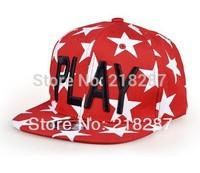 Free Shipping 2014 New 5pcs/lot PLAY Letters Design PUNK Hip Hop Hat Baseball Caps For Women/Men