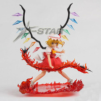 "Free Shipping Cool 10"" Griffon Enterprises Touhou Project Flandre Scarlet Red Sword PVC Action Figure Collection Model Toy Gift"