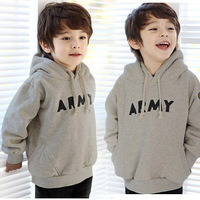 2013 children's autumn clothing male child solid color large thickening sweatshirt