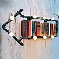 Water pipe wall lamp wall lights vintage tieyi loft bookshelf wall lamp