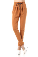 2014 spring roll-up hem fashion pants plus size women casual pants overalls with a belt CB0304J Free shipping