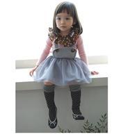 2014 spring and summer fashion children girls dress,  Korean princess girls dress with  strap  CC-203