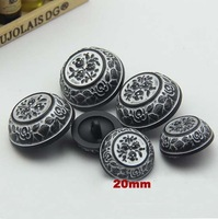 Min.order is $12(mix order buttons)20mm Romantic classic plastic buttons,carving flower sewing buttons for overcoat(ss-2196)