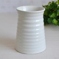 Fashion thread bell ceramic vase white vase desktop decoration modern flower