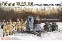 Dragon model 6260 1/35 88mm FLAK 36 w/FLAK ARTILLERY CREW