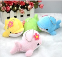 Free Shipping New Arrival Cute Cartoon Anime Pet Dolphin Plush Cell Phones Pendant Jewelry Charms Accessories Retail