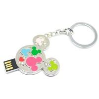 metal disk mini pen drive hello kitty animal Diamond gift pen drive 8gb 16gb 32gb 64gb Jewelry usb flash drive pendrive