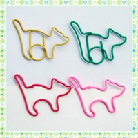 Creative 100PCS/Lot Freeshipping Multi Colors Cat Paper Clips For Office&School Desk Accessories Clip Dispenser Wholesale&Retail