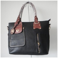 A104(black) wholesale designer women's bag,hand bag,advanced PU,40x40cm,two different colors & two function,Free shipping