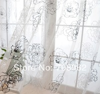 "Upscale European-style living room screens/sheer custom made curtain  59""*96""  1PCS"