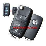Free Shipping--Best quality and lowest price VW 3 button key blank new modile after 2011
