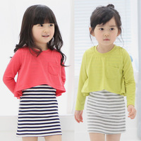 Free shipping 2014 spring and autumn princess 2 girls clothing child long-sleeve dress qz-0394