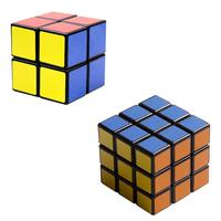 "Black Shenshou set of 2X2X2 3X3X3 Competitve Speed Spring Magic Puzzle Cube Game Intelligence Fancy Toy Gift 2.25"""