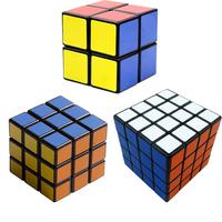 "Black Shenshou set of 2X2X2 3X3X3 4X4X4 Competitve Speed Spring Magic Puzzle Cube Game Intelligence Fancy Toy Gift 2.25"""