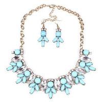 New style fashion temperament rhinestones elegant tree leaf women necklace jewelry X4565